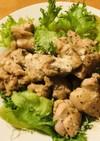 鶏もも肉の塩スパイス炒め●サラダ盛り