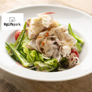 豚冷しゃぶと夏野菜の香味サラダ
