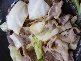 材料2つ!簡単豚とキャベツの炒め物
