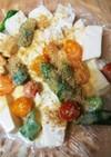 豆腐とオクラのホットサラダ