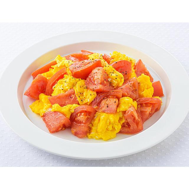 トマトとふわふわ卵のマヨソテー