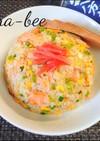 焼き鮭で簡単ウマッ♪鮭マヨチャーハン