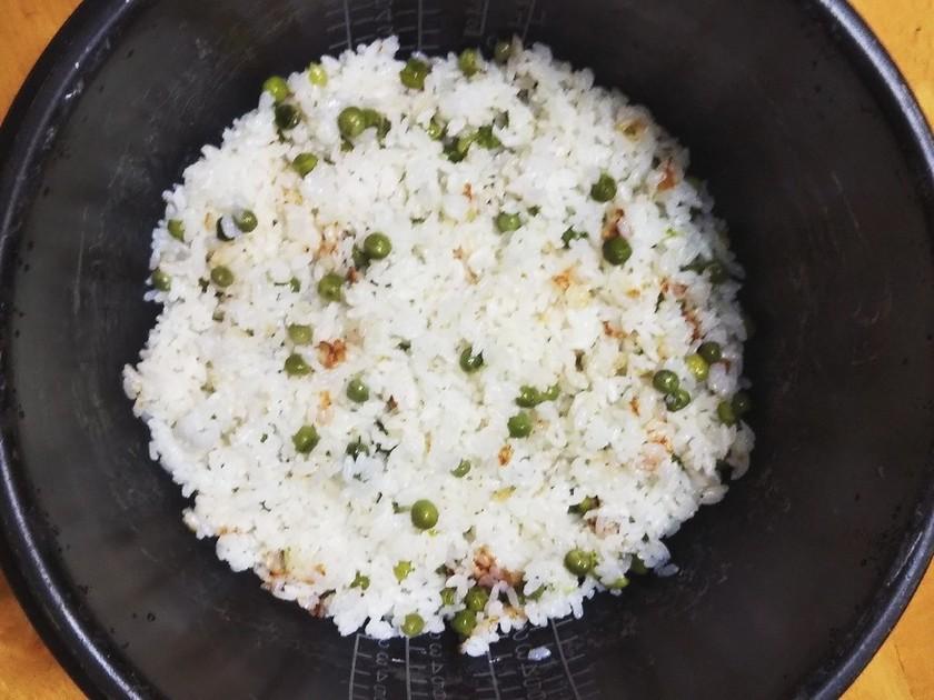 グリーンピースご飯 簡単 炊飯器