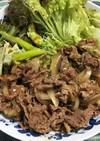 牛肉炒めレタス包み
