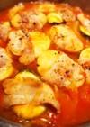 残り野菜で豚巻きトマト煮込み