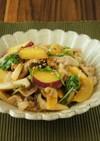 豚肉と秋野菜さっぱりオイスターソース炒め