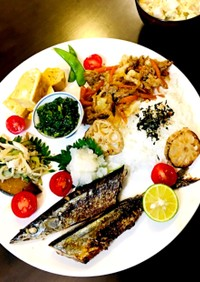 塩秋刀魚をフライパンで