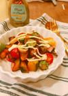 秋の彩ホットサラダを簡単ドレッシングで!