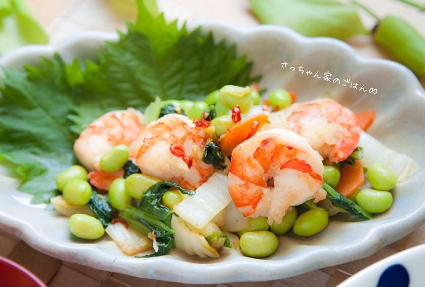 ぷりぷりエビと野菜の中華炒め