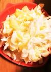 たくあんとチーズのキャベツサラダ