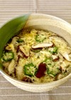 とろり椎茸・オクラのかき玉コンソメスープ