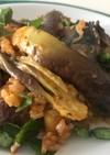 鯖缶とナスの炊飯トマトピラフ