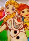 ツヤツヤ♪アナと雪の女王ケーキ♡