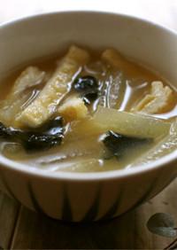 m冬瓜と揚げの味噌汁