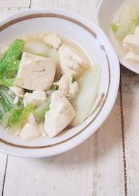 白菜と豆腐の中華味炒め煮