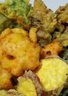 5種の彩り野菜と芝海老の天丼