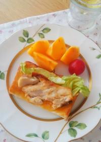 味噌マヨが絶品☆鯖トースト☆小学生の朝食