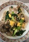 青梗菜と、豚バラの炒め物
