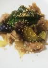 貴女風味で豚肉と茄子のピリ辛炒めめ。