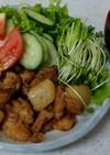 ✨鶏肉と甘酒炒め&ネギと豆腐の味噌汁✨