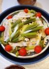 豚バラと蒸し野菜