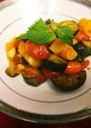 簡単イタリアン!夏野菜のアンチョビ炒め♪