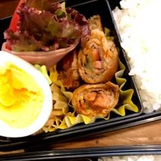 ☆お弁当 簡単 ナスとベーコン豚肉巻き☆