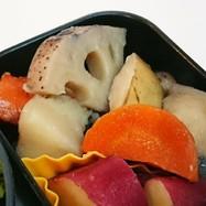 根菜3種(蓮根、じゃが、人参)の煮しめ