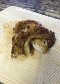 鮭の白子のバター焼き