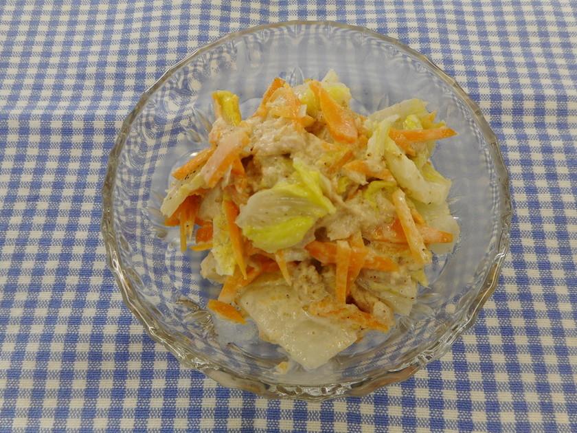 白菜とツナのゴママヨサラダ