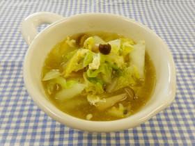 白菜と卵のスープ