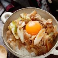 ☆とろ~り卵のお月見スタミナ丼☆