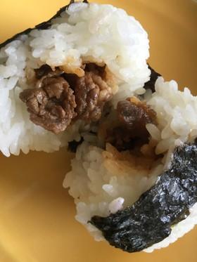 男子高生弁当☆牛肉のしぐれ煮おにぎり♫