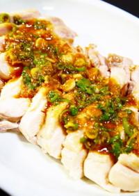ゆで鶏で作る★ぷりぷり鶏もも肉のよだれ鶏