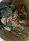 全てレンジ彩野菜と鶏胸肉の塩だれ炒め煮