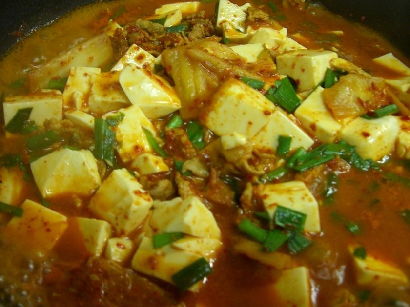 キムチと豆腐のヘルシーチゲ