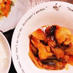 鶏むね肉で作る酢鶏風煮込み