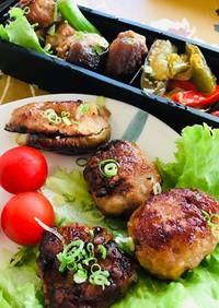簡単つくねと椎茸肉詰めと肉茄子、弁当にも