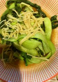 チンゲン菜とエノキダケ炒め