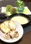 蓮根とエリンギのソテー&チーズフォンデュ