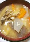 舞茸入り♫味噌入り具沢山のけんちん汁