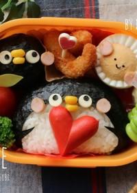 ペンギン親子むすび弁当☆キャラ弁おにぎり