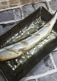 オーブンで秋刀魚の塩焼き