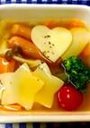 子供が喜ぶ♪型抜きラザニアのトマトスープ