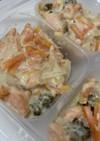 [離乳食完了期] 鮭と野菜の豆乳煮込み風