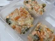 [離乳食完了期] 鮭と野菜の豆乳煮込み風の写真