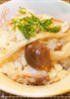 秋☆ゴボウと鯖缶の炊き込みご飯