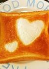 ハート♡のトースト