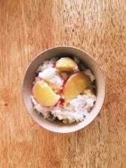 サツマイモご飯の写真