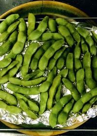茹でる必要なし 生枝豆の燻製